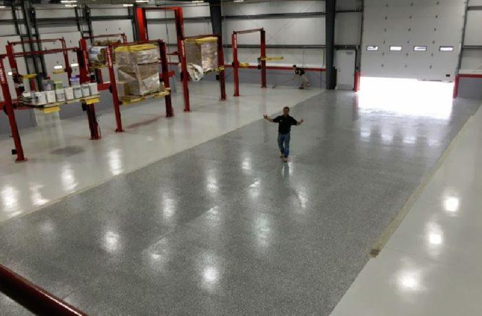 REFLECTOR™ Enhancer Floor/ Elite Crete Systems AirPort Hanger
